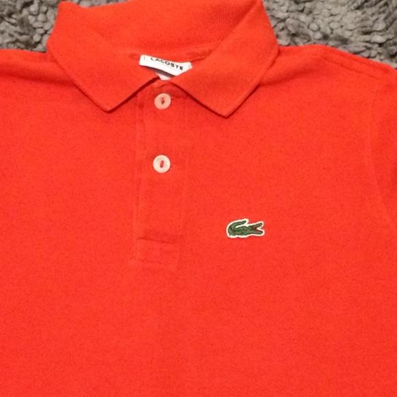 a773f4e1 Lacoste Shirts & Tops | Boys Pique Ss Orange Polo Shirt | Poshmark